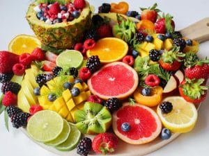Healthy platter - fruits are good for immune system