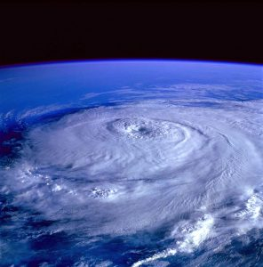 Eye of the storm: hurricane view from outer space